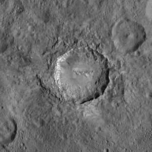 Haulani (crater) - Haulani imaged by Dawn from LAMO