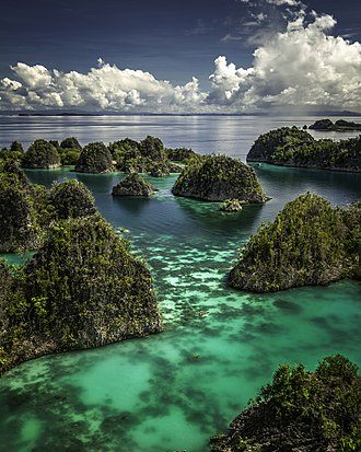 Tourism in Indonesia - Piaynemo karst archipelago in Raja Ampat, West Papua