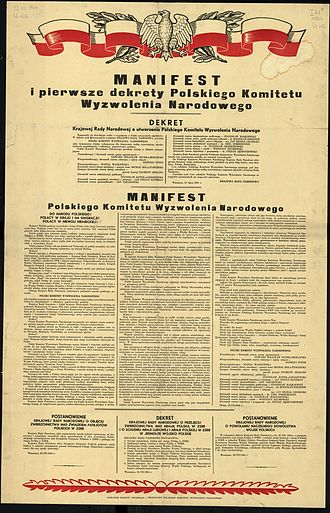 Ministry of Public Security (Poland) - The PKWN Manifesto, issued on July 22, 1944
