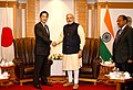 PM Modi meets Minister of Foreign Affairs, Fumio Kishida, in Tokyo.jpg