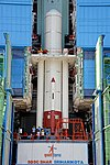PSLV-C44 Integrated upto First Stage inside Mobile Service Tower.jpg