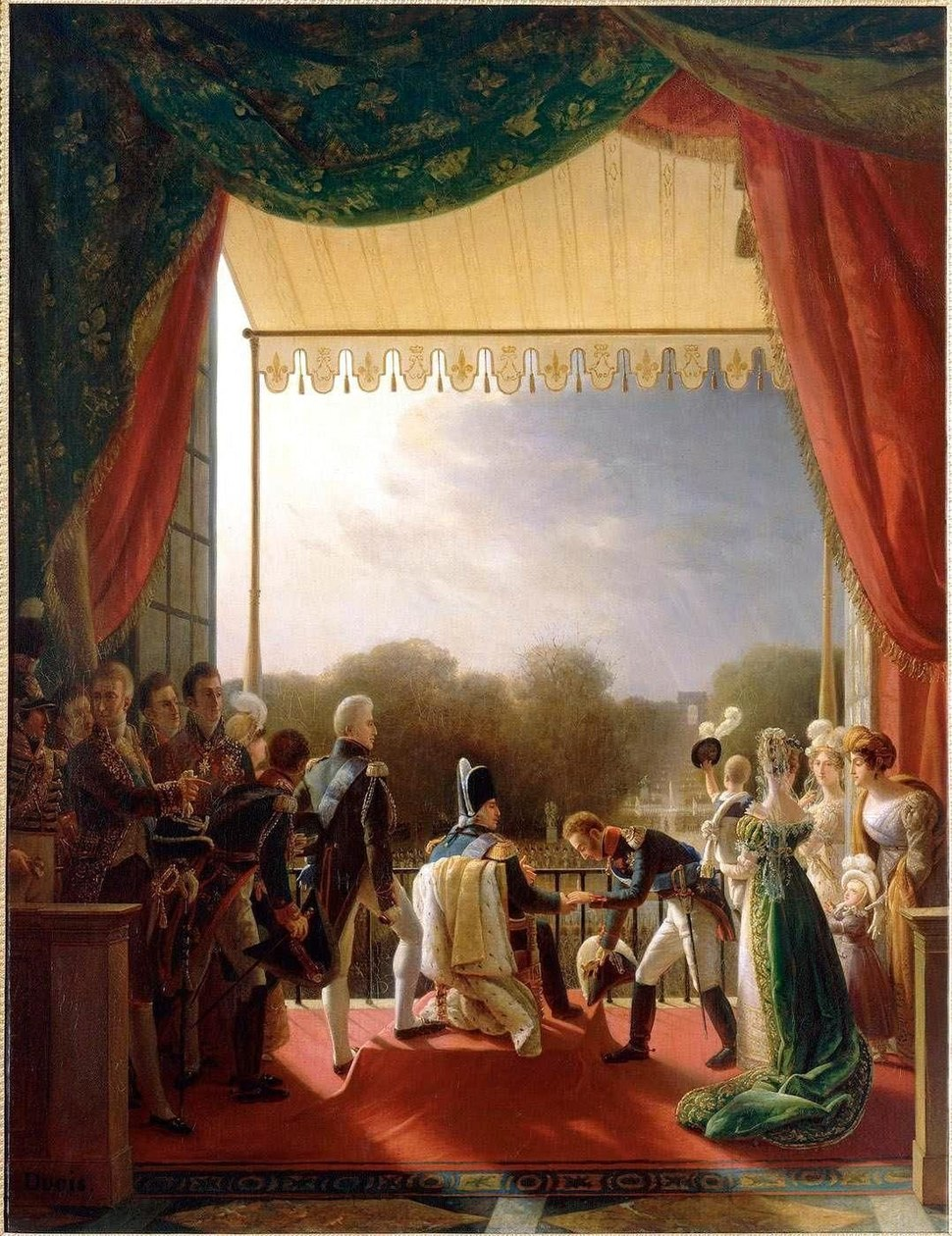 Painting, Louis XVIII and the French Royal Family, Louis Ducis