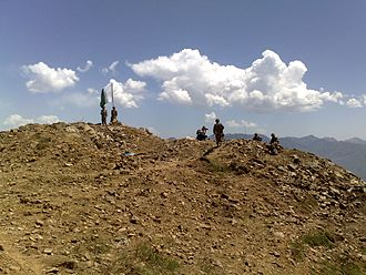 War in North-West Pakistan - Pakistan airborne forces captured the highest point in Swat valley, 2009.