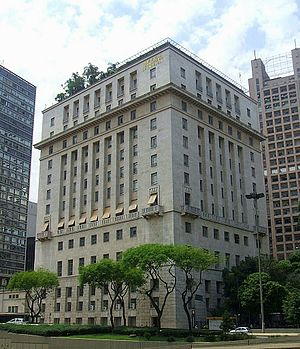 Matarazzo Building - The Palácio do Anhangabaú in the center of the city.