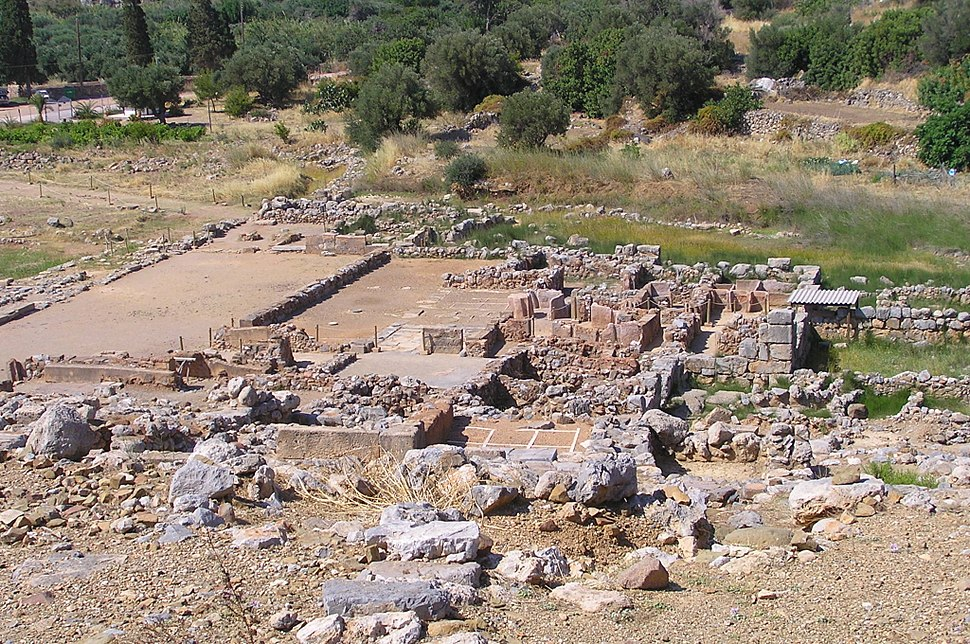 Palace of Zakros ruins