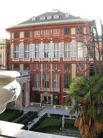 """Palazzo Rosso (Genoa) - Facade of Palazzo Brignole Sale, """"Palazzo Rosso"""""""