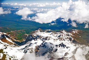 Pamir Mountains - Pamir Mountains from an airplane, June 2008