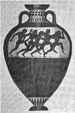 Panathenaic amphora attributed to the Euphiletos Painter, Met 14.130.12.JPG