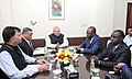 Pancrace Boongo Nkoy meeting the Union Minister for Micro, Small and Medium Enterprises, Shri Kalraj Mishra, in New Delhi. The Secretary, Ministry of Micro, Small & Medium Enterprises and Steel.jpg