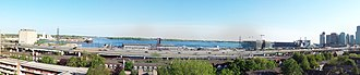 Corus Quay - Image: Panorama toronto harbour and gardiner expressway