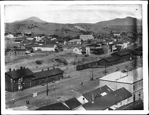 Nogales, Sonora - Panoramic view of the city of Nogales, Mexico, ca.1905