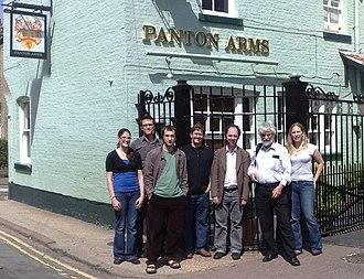 Panton Principles - Drafters of the Panton Principles at the Panton Arms pub