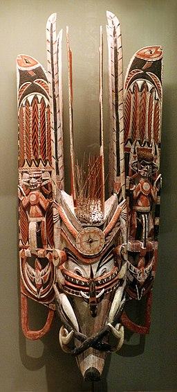 Papua nuova guinea, nuova irlanda, maschera di maiale, 1910 ca