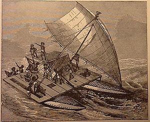 Papuan people - A Papuan sailboat