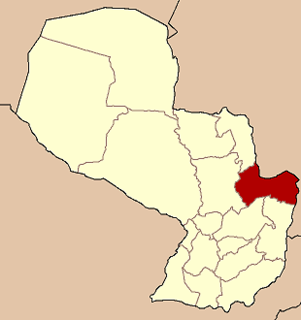 Curuguaty City & District in Canindeyú, Paraguay