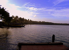 Paravur Lake, Kollam - An evening scene.jpg