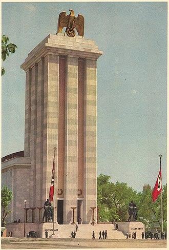 Exposition Internationale des Arts et Techniques dans la Vie Moderne - Image: Paris expo 1937 pavillon de l'Allemagne 02