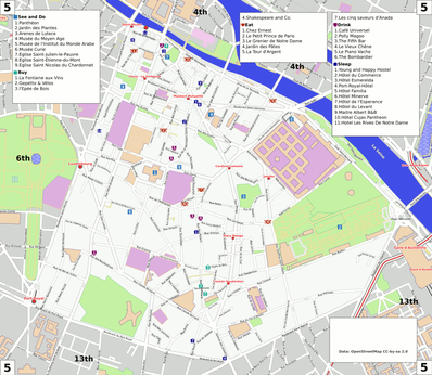 Map of Paris/5th arrondissement