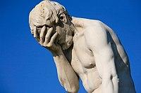 Paris Tuileries Garden Facepalm statue.jpg