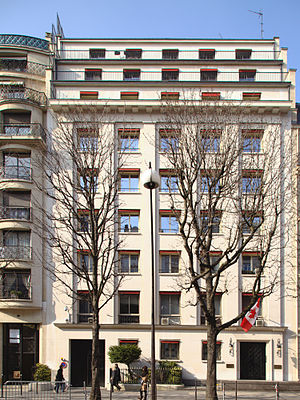 Canada–France relations - Canadian embassy in Paris, France.