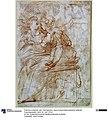 Parmigianino - Zwei in einer Halbrundnische sitzende Frauengestalten, Ident.Nr. KdZ 15532.jpg