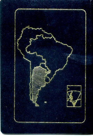 Visa requirements for Argentine citizens - Image: Pasaporte Argentino Contratapa