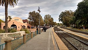 Davis station (California) - Passengers wait at Davis station in November 2017