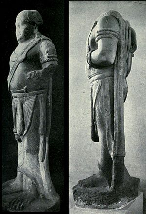 Yaksha - The two Yakshas discovered in Patna, ancient Pataliputra.