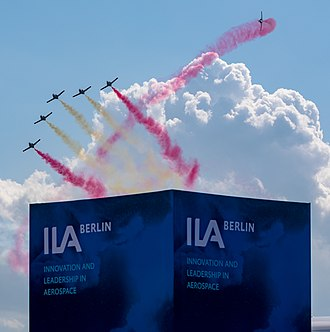 ILA Berlin Air Show - Aerobatics show of Patrulla Águila at the ILA 2018