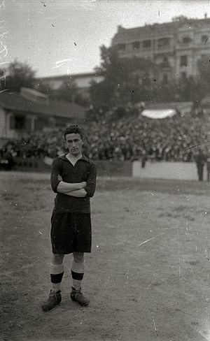 Francisco Gamborena - Gamborena after winning the 1924 Copa del Rey Final with Real Unión