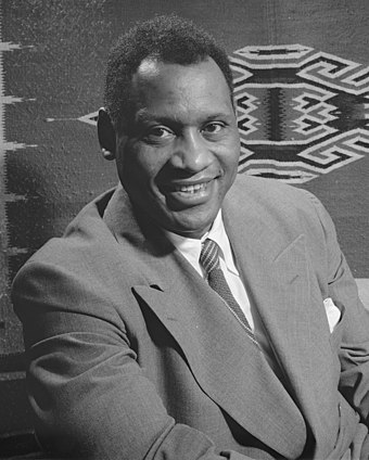 In the 1950s the ACLU chose to not support Paul Robeson and other leftist defendants, a decision that would be heavily criticized in the future. Paul Robeson 1942 crop.jpg