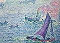 Paul signac, il porto di rotterdam, 1907, 04 barca a vela.jpg