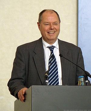 Finanzminister Peer Steinbrück in der Bundesku...