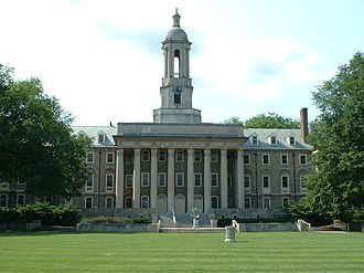 Centre County, Pennsylvania - Old Main, the main administrative building of Penn State, located at University Park.