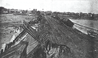 1906 Mississippi hurricane - Damage caused by the hurricane in Pensacola
