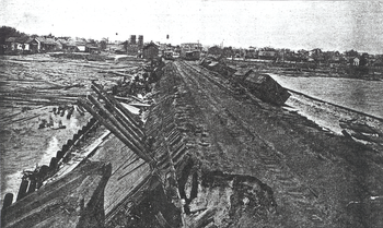 Damage in Pensacola after the 1906 hurricane. ...