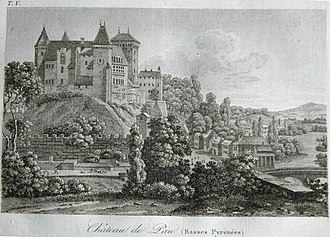 Béarnese dialect - Pau Castle, where the Occitan court of the Kingdom of Navarra reigned