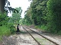 Person walking along the Hocking Valley Railway at Logan.jpg