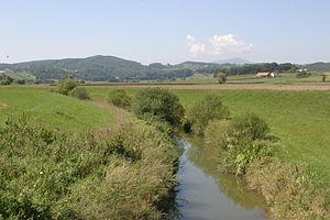 Pesnica (river) - Pesnica near Hrastovec v Slovenskih Goricah