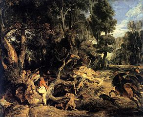 Landscape with Boar Hunt