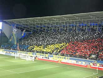FC Petrolul Ploiești - Petrolul supporters displaying a 3D choreography