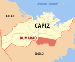 Map of Capiz with Dumarao highlighted