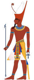 Pharaoh with double crown.svg