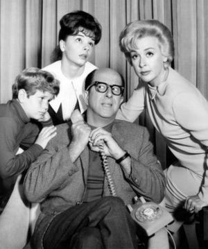 Ronnie Dapo - Cast of The New Phil Silvers Show (1964), back row L-R:  Sandy Descher, Elena Verdugo. Front: Ronnie Dapo and Phil Silvers