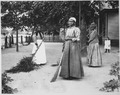 Photograph of African-American Women with Brooms of Bambusa - NARA - 521043.tif