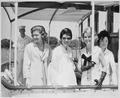 Photograph of Betty Ford and Three Unidentified Women Aboard a Naval Launch at Pearl Harbor, Hawaii - NARA - 186846.tif
