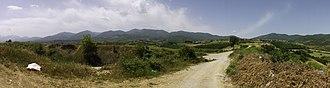 Pierian Mountains - Image: Pierian mountain range panorama