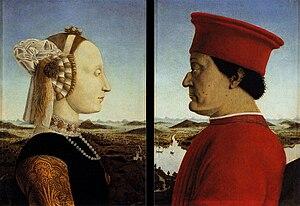 The Duke and Duchess of Urbino - Image: Piero, Double portrait of the Dukes of Urbino 03