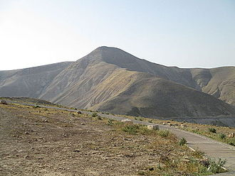 Alexandrium - Mount Sartaba, once topped by Alexandrium fortress