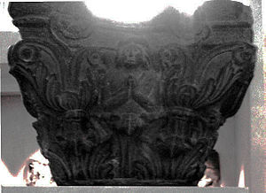 Azes II - The Indo-Corinthian capital from Butkara Stupa under which a coin of Azes II was found. Dated to 20 BCE or earlier (Turin City Museum of Ancient Art).